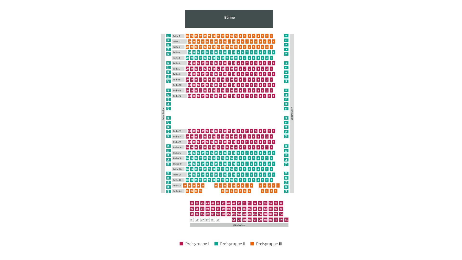 Sitzplan Stadthalle Gotha